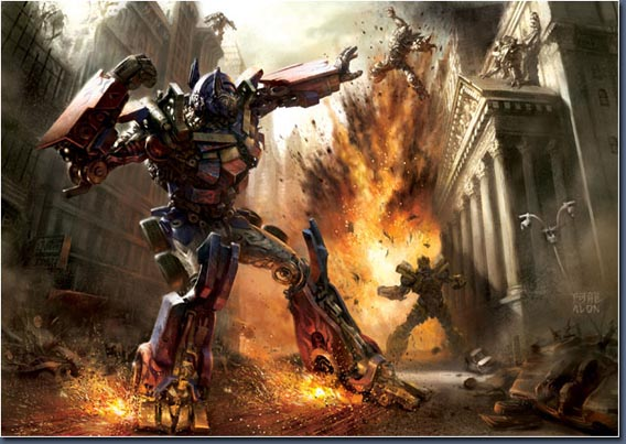 Making of Transformers Deathblow Digital Painting Tutorial