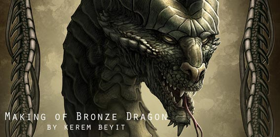 Making of Bronze Dragon Digital Painting Tutorial