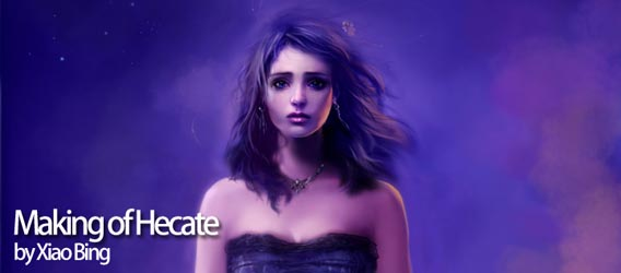 Making of Hecate Digital Painting Tutorial