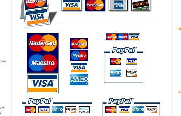 Remarkable credit card logos vector images