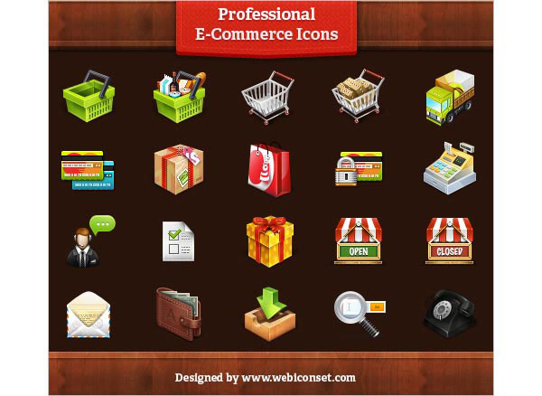 Professional E-Commerce Icons Set (20 Icons)