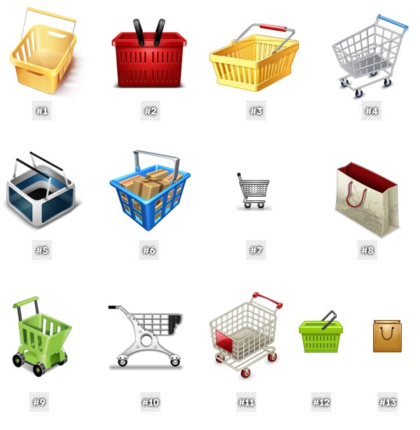 Free to download Shopping cart icons