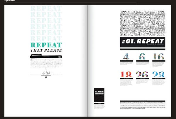 Repeat magazine Editorial Design Inspiration