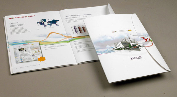 Yahoo Search Marketing Brochure Editorial Design Inspiration