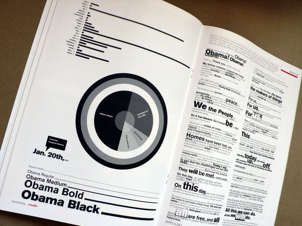 obama's speech: a typographic interpretation Editorial Design Inspiration