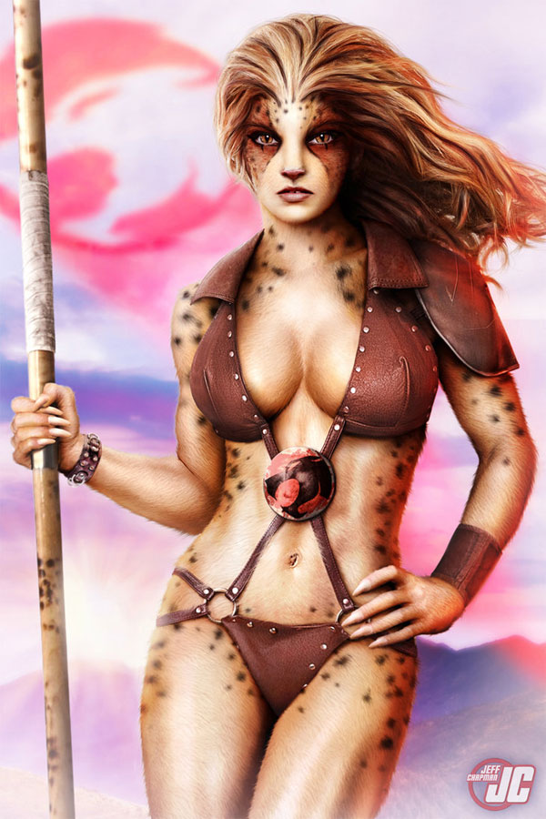 Cheetara of Thundercats Photoshop Design Inspiration