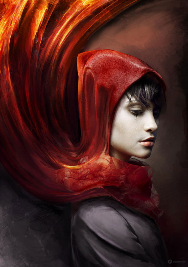 Red Riding Hood Photoshop Design Inspiration