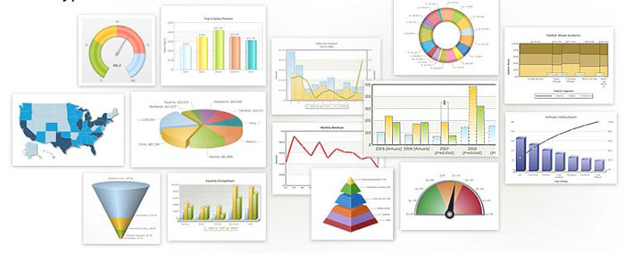 FusionCharts Free is a flash charting component that can be used to render data-driven & animated charts for your web applications and presentations.