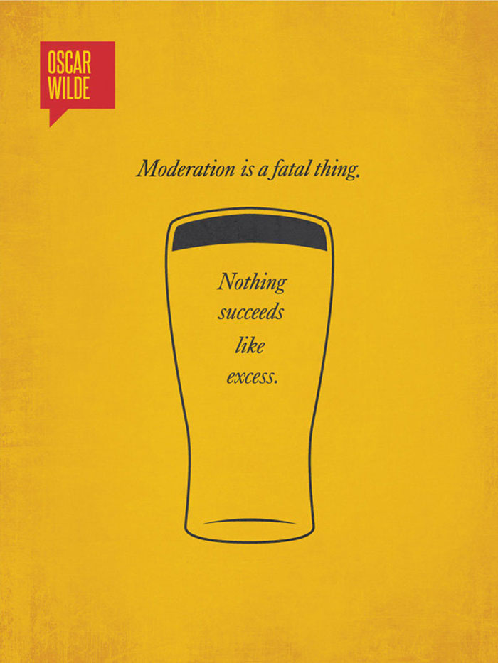 Famous quotes illustrated through minimalist posters for Famous minimalist designers