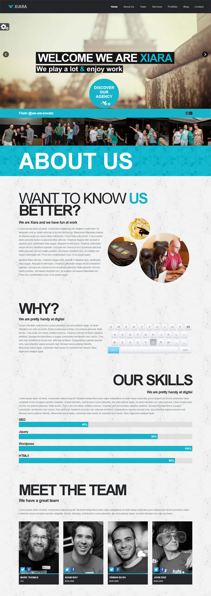 Onepage Flat Web Design Inspiration