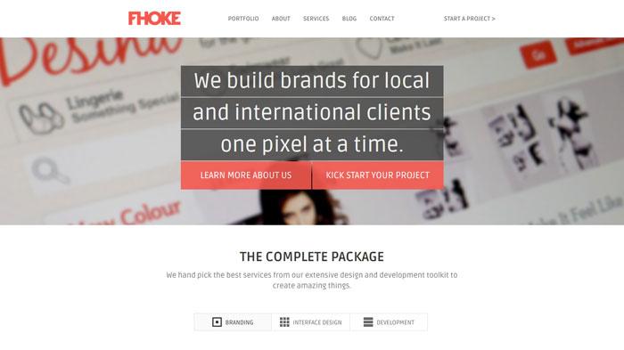 fhoke.com Flat Web Design Inspiration