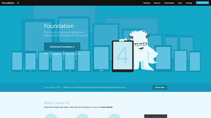 foundation.zurb.com Flat Web Design Inspiration