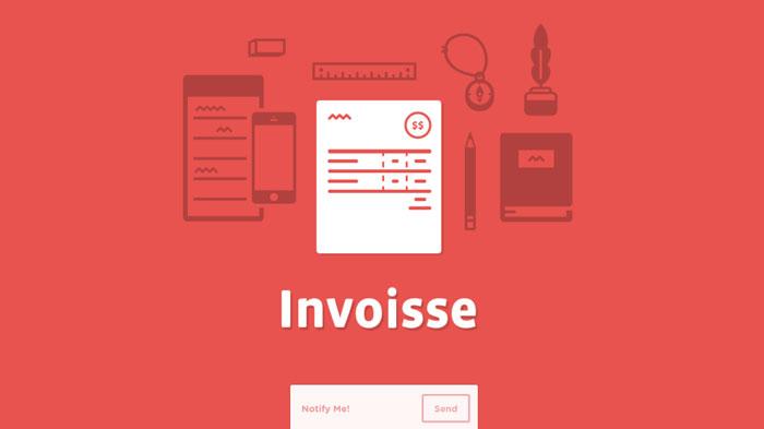 invoisse.com Flat Web Design Inspiration