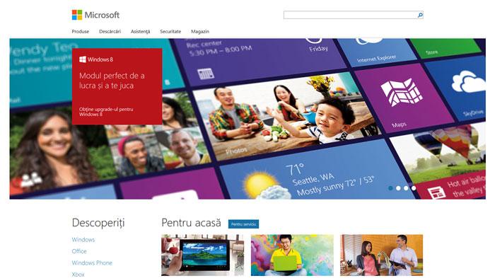 microsoft.com Flat Web Design Inspiration