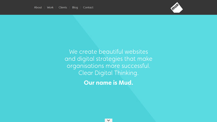 ournameismud.co.uk Flat Web Design Inspiration