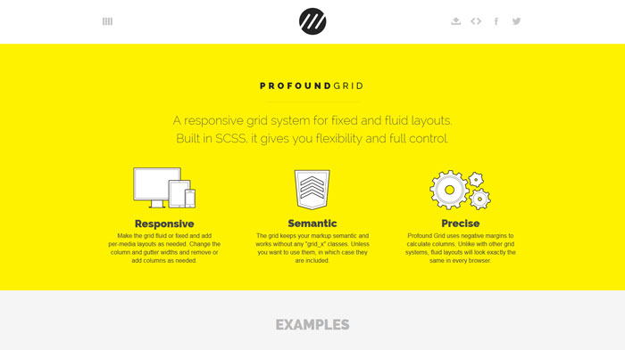 profoundgrid.com Flat Web Design Inspiration