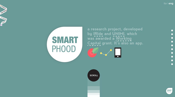 smartphood.it Flat Web Design Inspiration