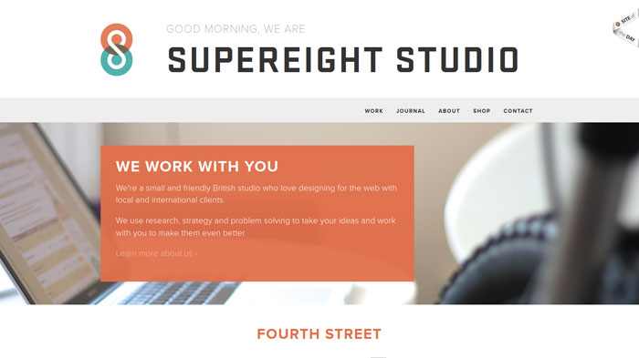 supereightstudio.com Flat Web Design Inspiration