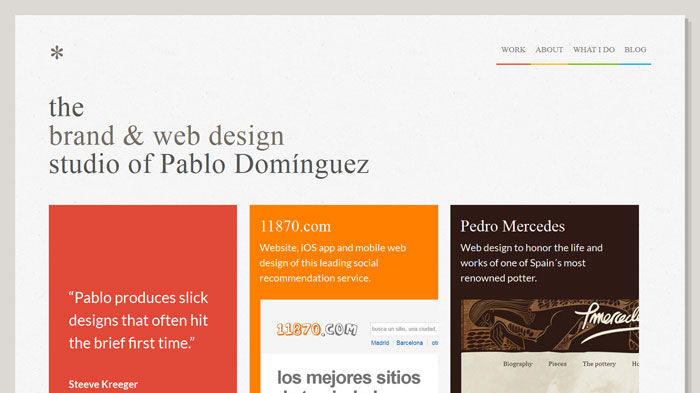 tinybigstudio.com Flat Web Design Inspiration