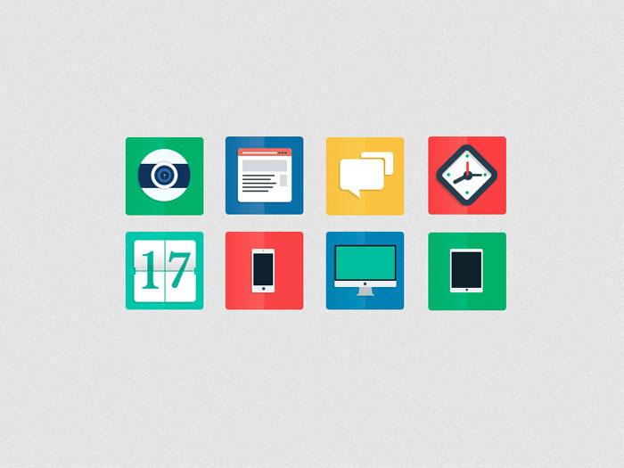 Freebie PSD - Flat Icons