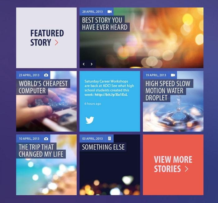 Blog/Magazine Flat UI Kit