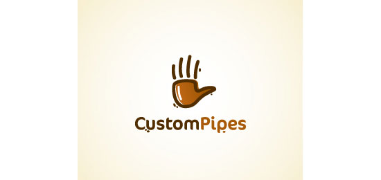 CustomPipes Logo Design Inspiration Made Just For Fun