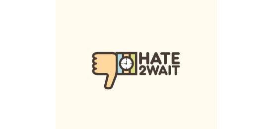 Hate2Wait Logo Design Inspiration Made Just For Fun