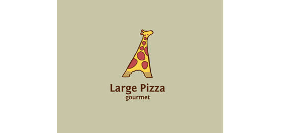 Large Pizza Logo Design Inspiration Made Just For Fun