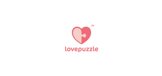 Love Puzzle Logo Design Inspiration Made Just For Fun