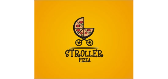 Stroller Pizza Logo Design Inspiration Made Just For Fun