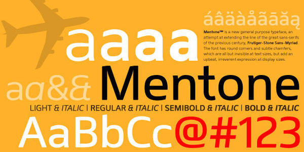 Mentone Free for Commercial use Font