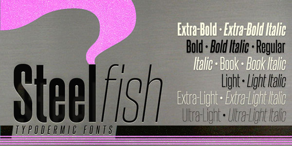 Steelfish Free for Commercial use Font