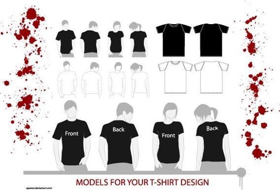 T-Shirt Models Free Vector Graphics