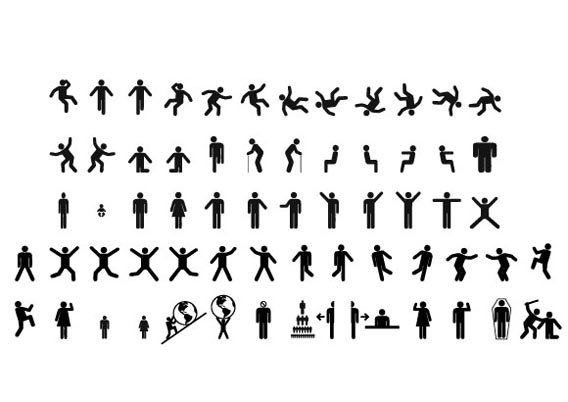 Men & women sign pictograms Free Vector Graphics