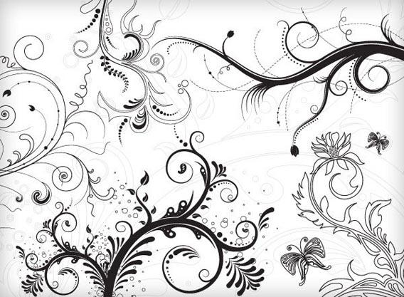 5 Floral Ornaments Free Vector Graphics