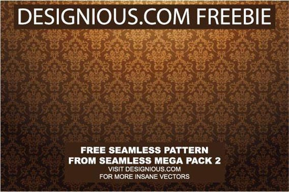 Baroque seamless pattern Free Vector Graphics