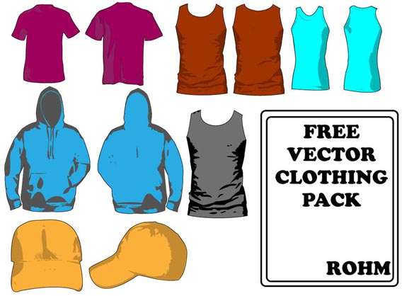 Clothing templates pack Free Vector Graphics