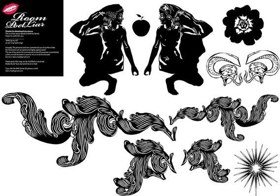 FREE BLACK WHITE VECTOR # 2 Free Vector Graphics