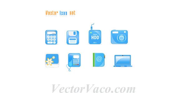 Free Blue Vector Icons Free Vector Graphics