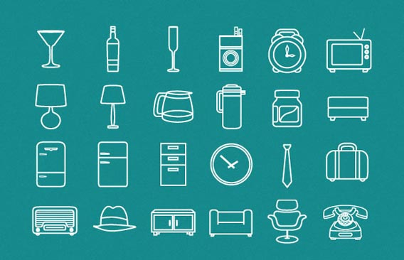 Minimal Retro Pack Free Vector Graphics