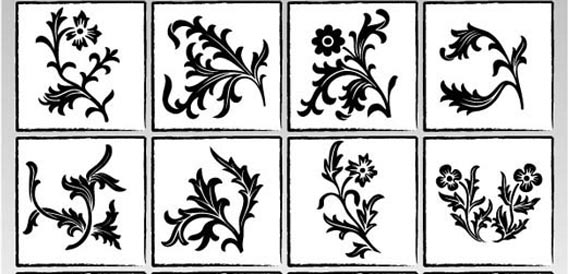 Ornaments flowers Free Vector Graphics