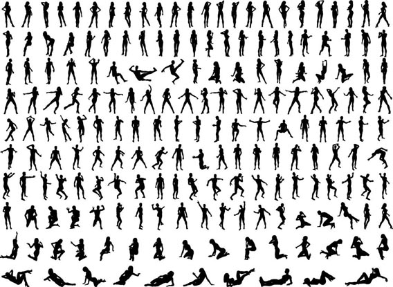 Silhouettes Free Vector Graphics