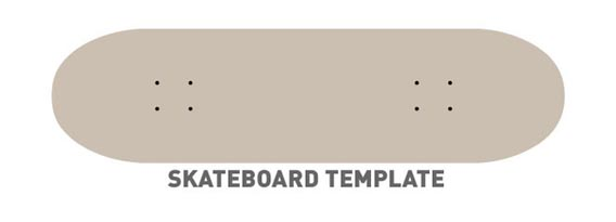 Skateboard Template Free Vector Graphics