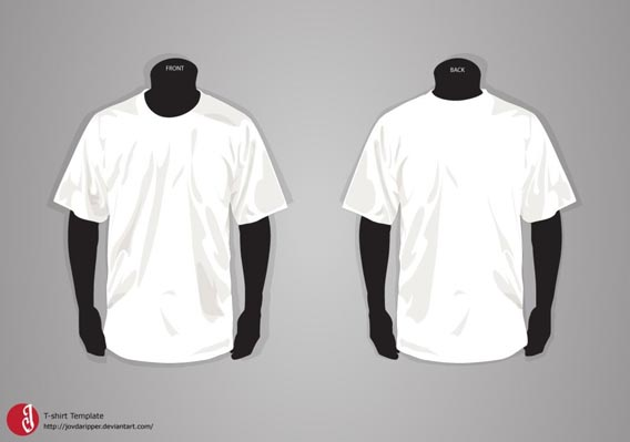 T-shirt Template Free Vector Graphics