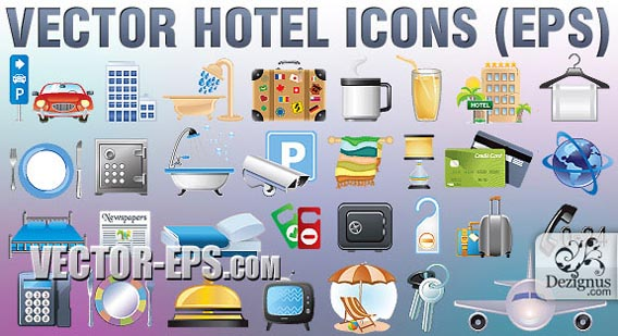 Vector Hotel Icons Free Vector Graphics