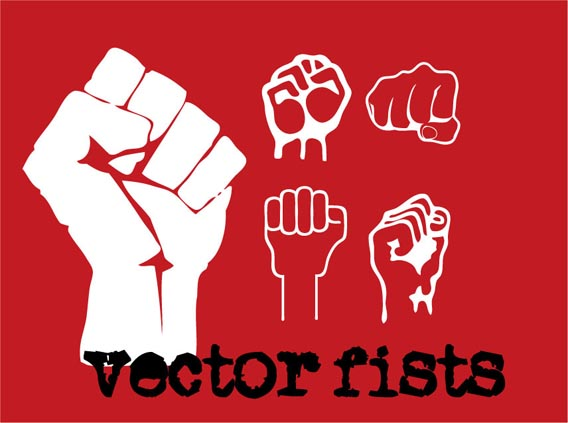 Fists Free Vector Graphics