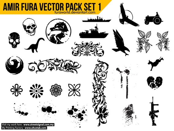 Amir Fura Vector Pack Set 1 Free Vector Graphics
