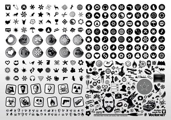 Black & White Vector Icons Free Vector Graphics