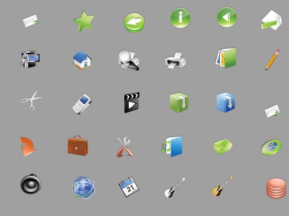 Bright! - A free stock vector iconset Free Vector Graphics