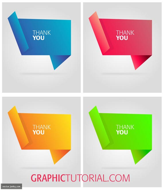 Origami Bubble text Free Vector Graphics